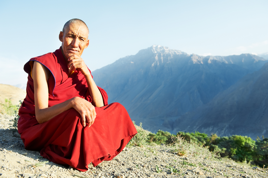 Tibetan guru on a mountaintop | Cloud Surfing Media Digital Marketing